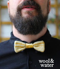 Model in Wool & Water Bow Tie