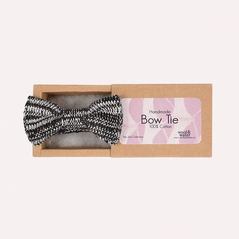 Bow Tie: Black & White Marl