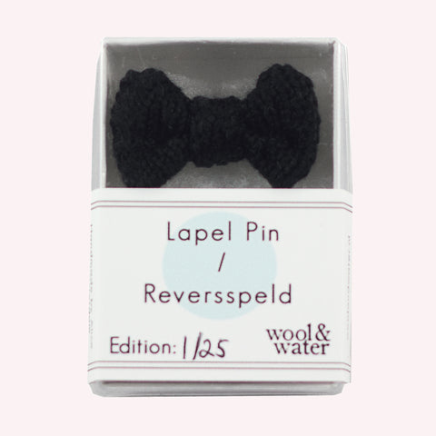 Black Mini Bow Tie Pin