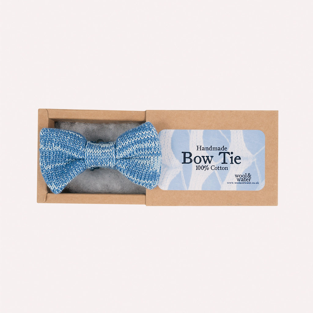 Bow Tie: Blue Mix Cotton