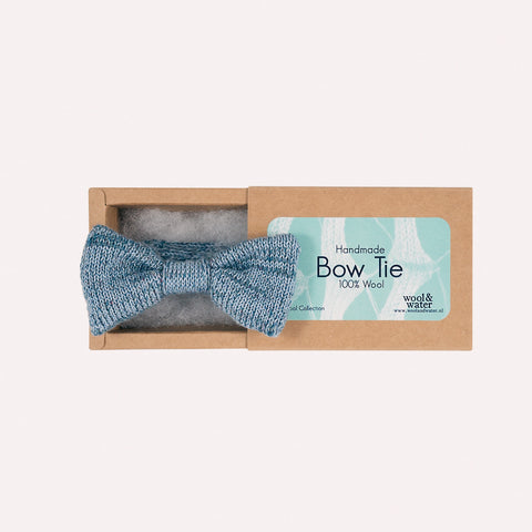 Bow Tie: Blue Mix Lambswool