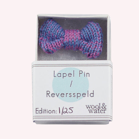Lilac Bow Tie Pin