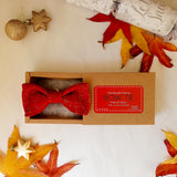 Red Gold Bow Tie in Box