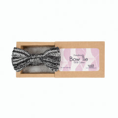 Black & White Bow Tie (Eco Cotton)