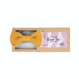 Bow Tie: Mustard Yellow Cotton
