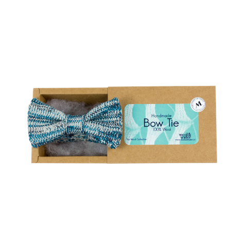 Teal Blue/Green Bow Tie