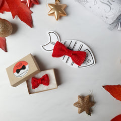 Cat / Tiny Dog Bow Ties: Snowman, Snowflake and Festive Sparkle