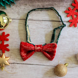 Festive Bow Tie: Red Sparkle