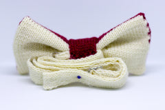Knitted Bow Tie: Reverse View