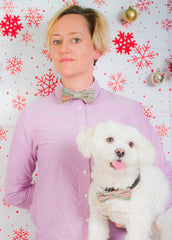 Festive Bow Wow Tie: Small / Medium Dog