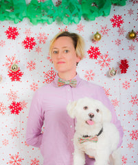 Festive Offer: Christmas Bow Tie & Matching Dog Bow Wow Tie (S-M)