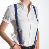 Suspenders / Bretels: Blue and Red