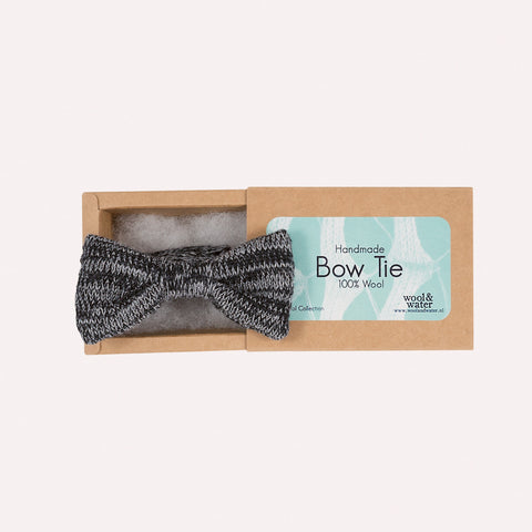 Bow Tie: Grey Marl Wool
