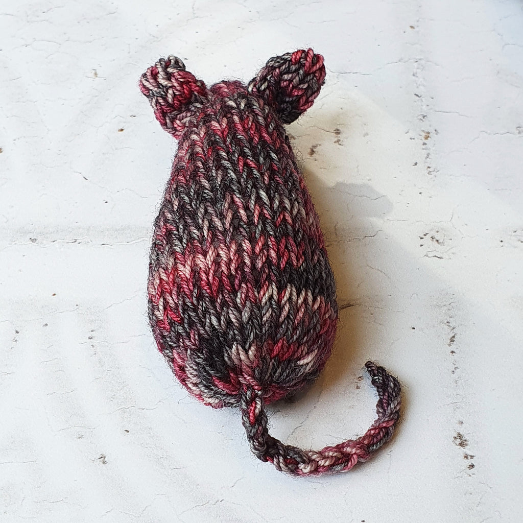 Grey Pink Catnip Mouse Toy