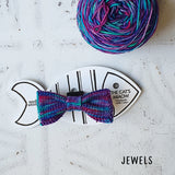 Mixed Purple Cat Bow Tie with Ball of Yarn