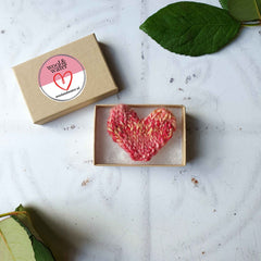 Love Heart Knitted Pin