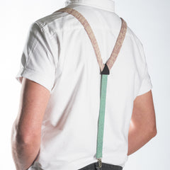 Suspenders / Bretels: Pink and Green