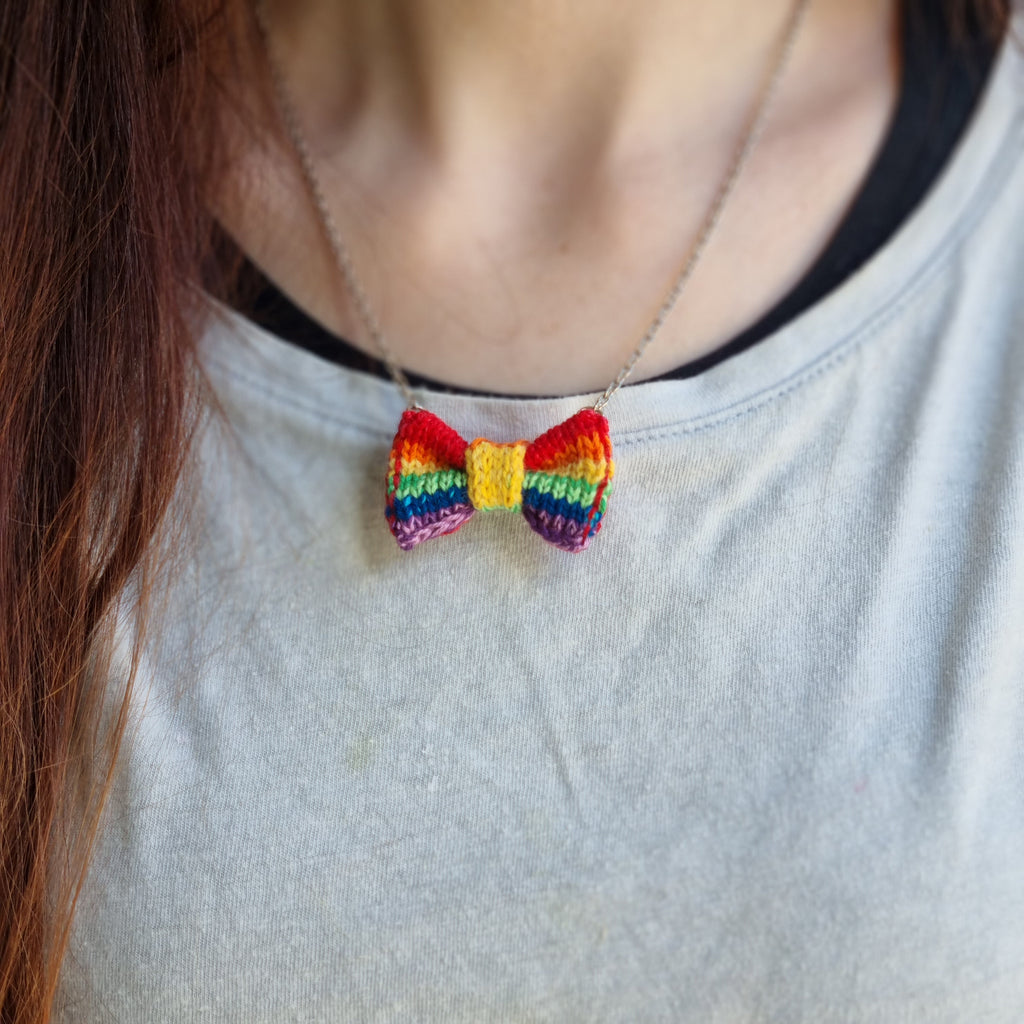RainBOW Dog Bow Tie + Necklace Set (Special Edition)