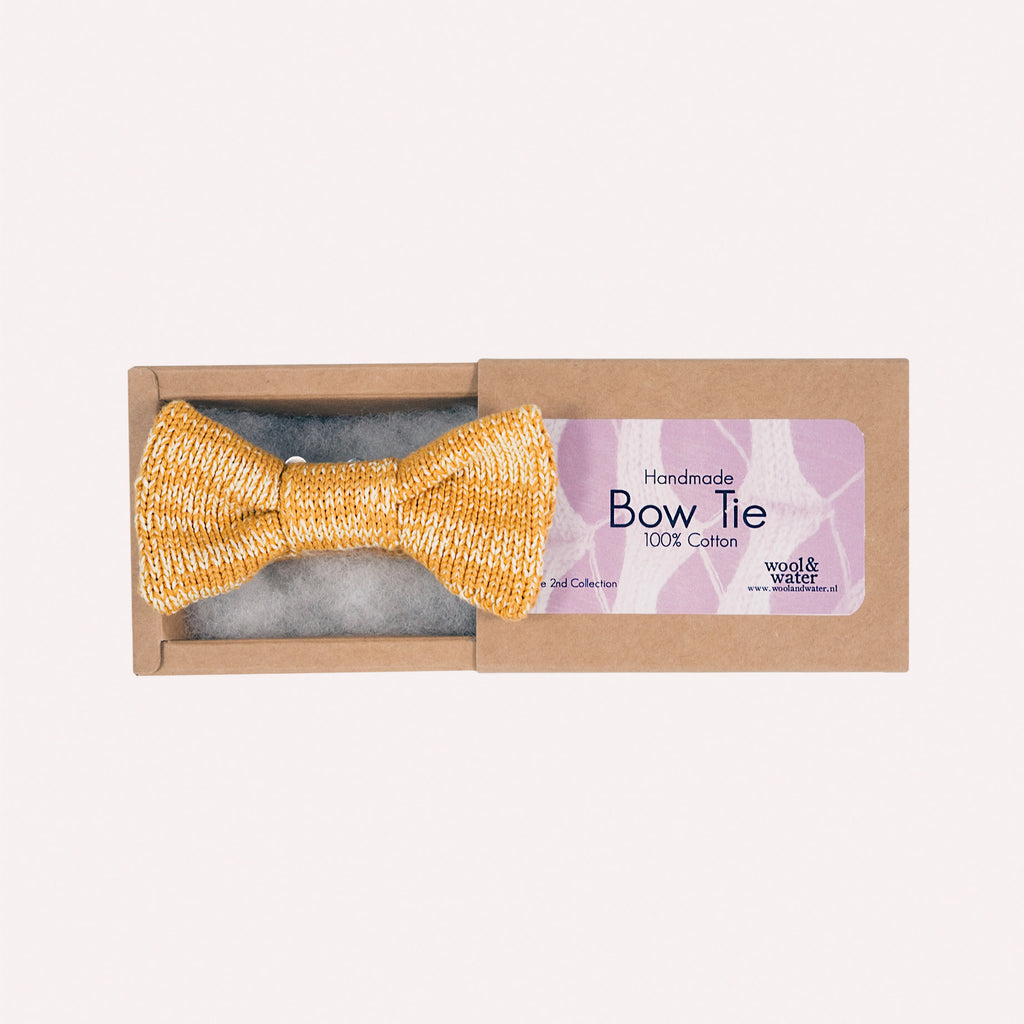Bow Tie: Mustard Yellow Mix Cotton