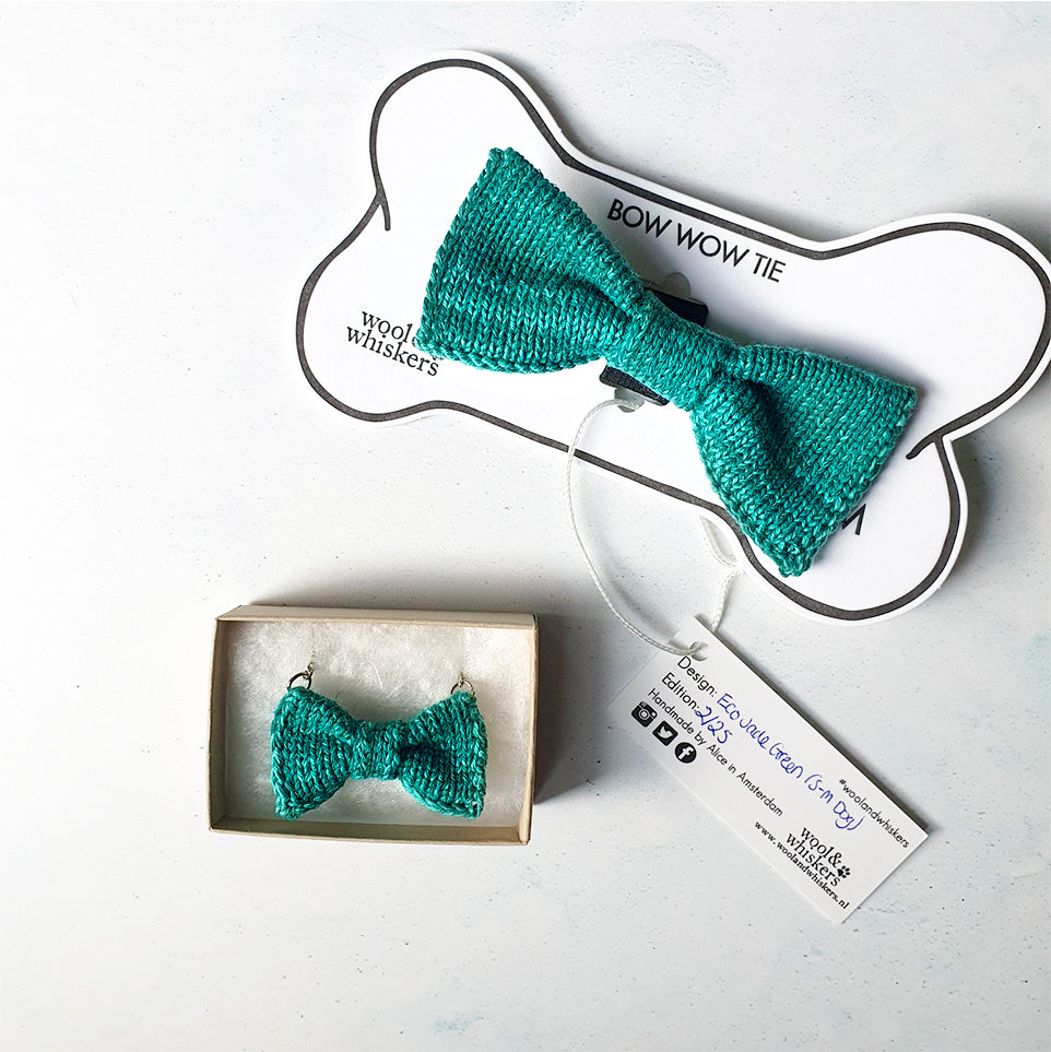 Mini Bow Tie Necklace + Cat or Dog Bow Tie Set