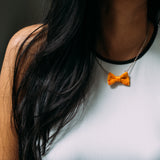 Orange Bow Tie Necklace