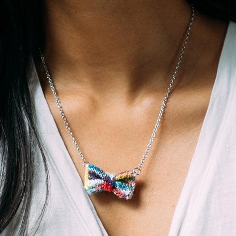 Paintpot Bow Tie Necklace