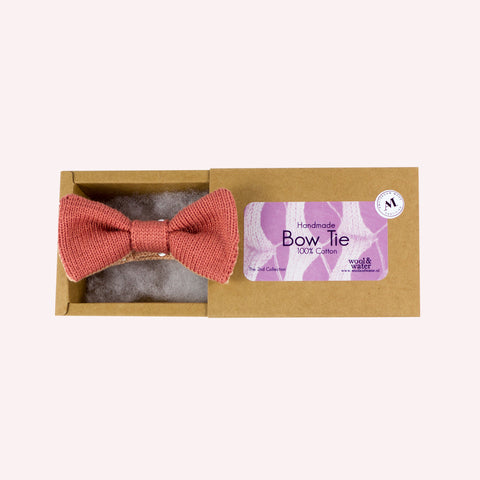 Bow Tie: Peach Cotton