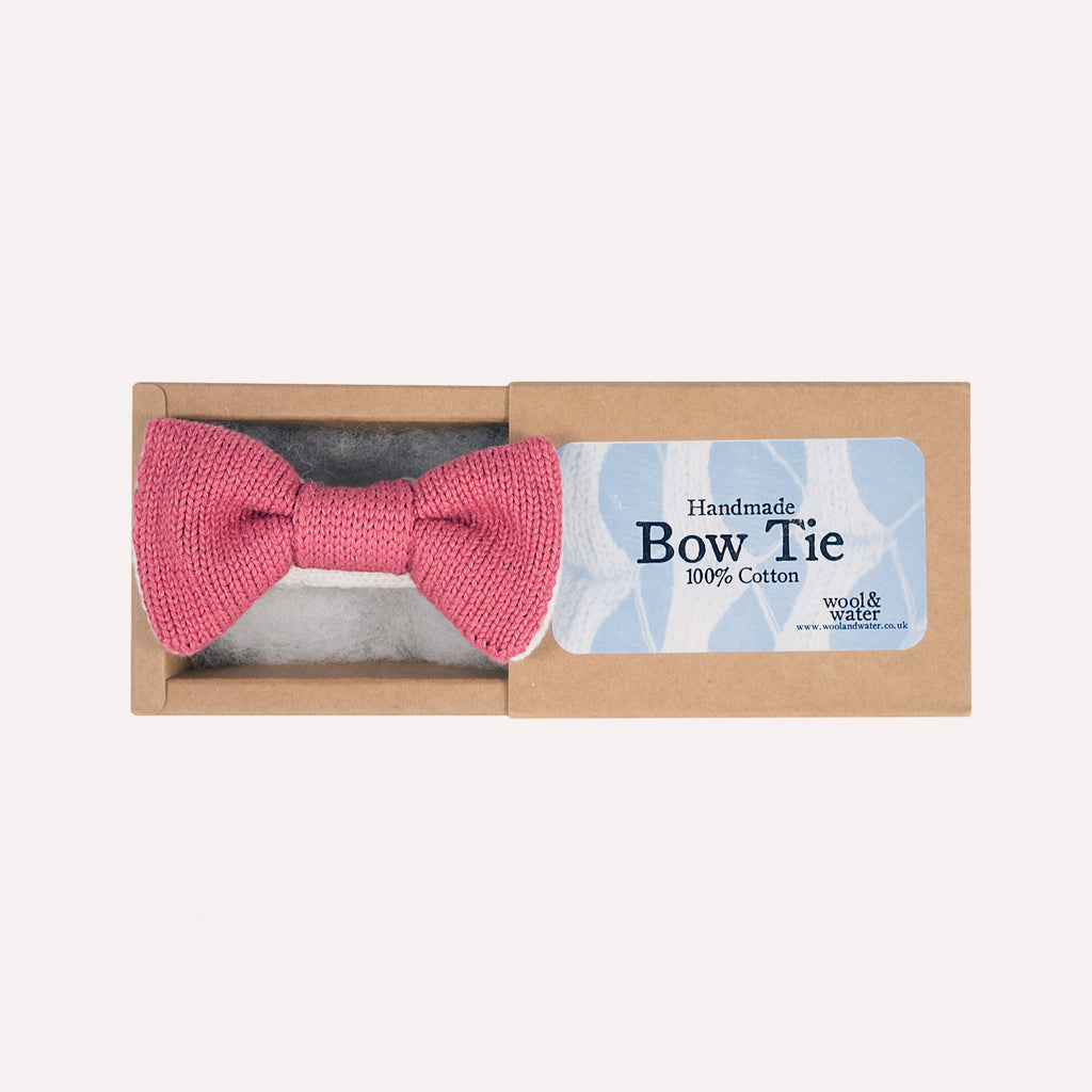 Bow Tie: Raspberry Pink Two Tone