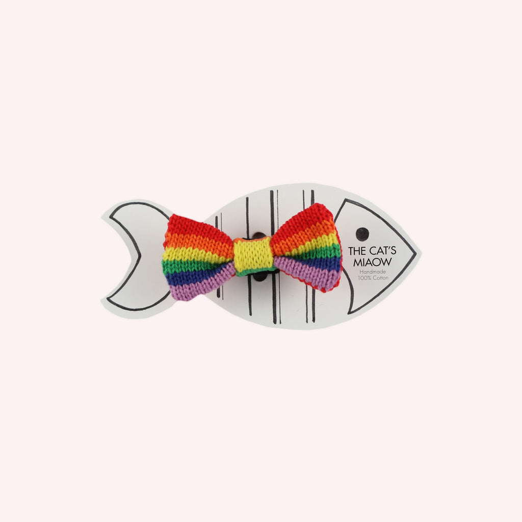 Rainbow / PRIDE Cat Bow Tie: Cat and Tiny Dogs