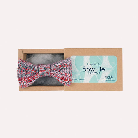 Bow Tie: Red Marl Wool