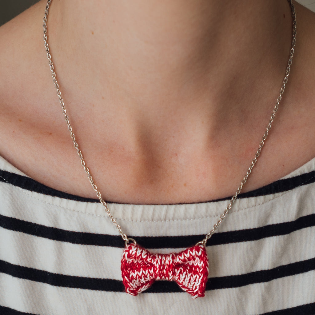 Red Bow Tie Necklace