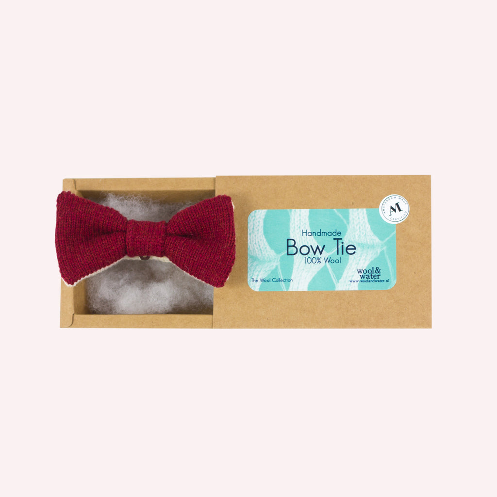 *NEW* Bow Tie: Ruby Red Two Tone