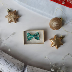 Great Gatsby Green Mini Bow Tie Necklace