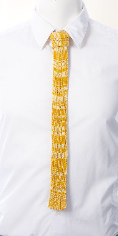 Skinny Tie: Mustard Yellow Mix (Textured)