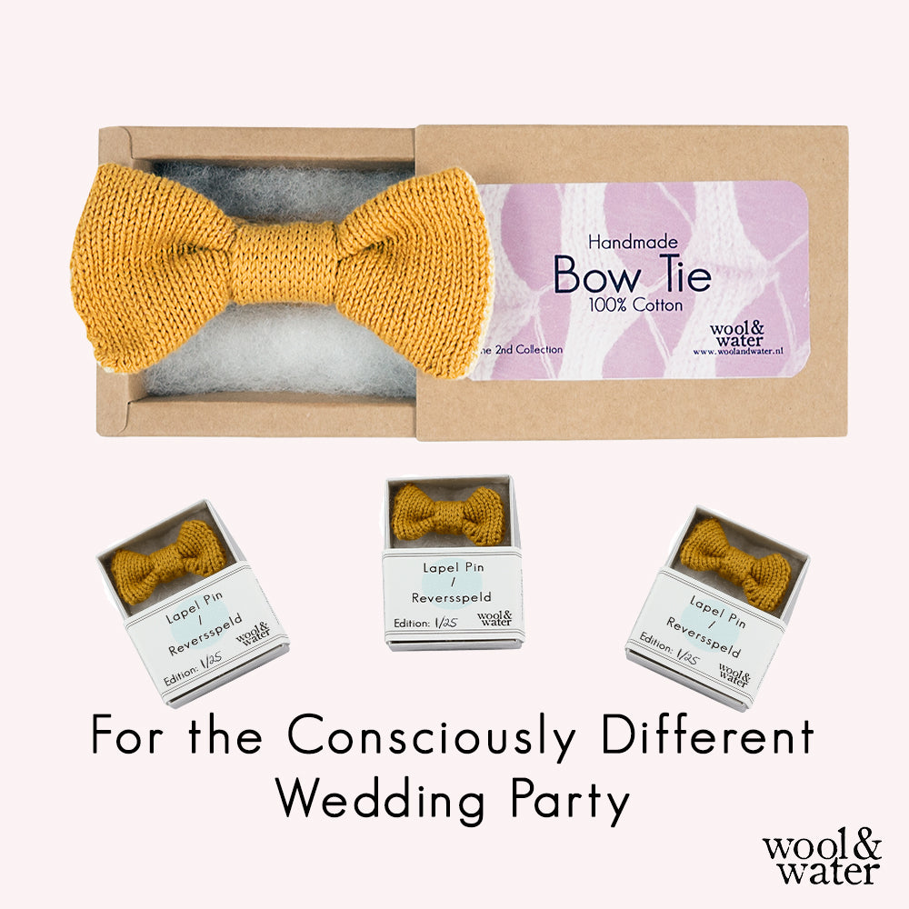 Bow Tie and Matching Lapel Pins