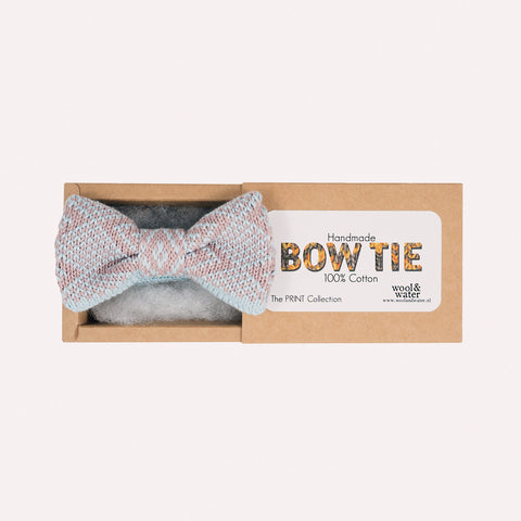 Bow Tie: Light Blue and Lilac Pattern