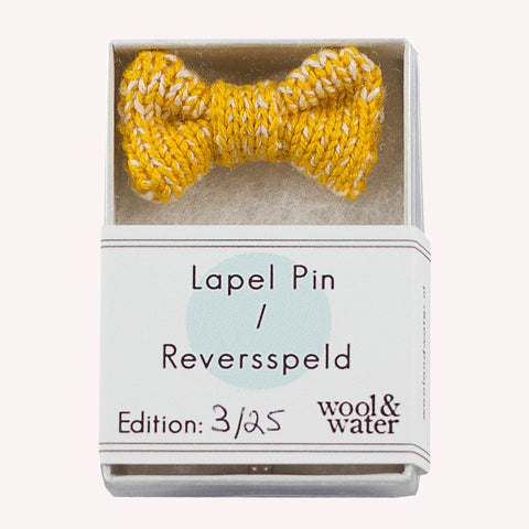 Yellow Bow Tie Pin