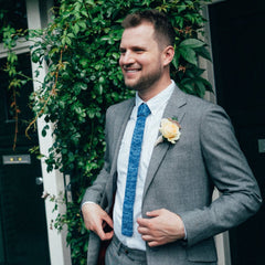 Groom in Wool & Water Tie
