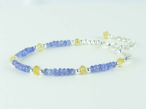 Serene bracelet - Tanzanite and Citrine