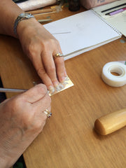 Creating with silver sheet - Jewellery by Linda