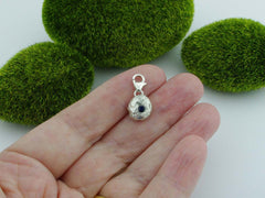 Blue Sapphire Solid Sterling Silver Precious Pebble Charm