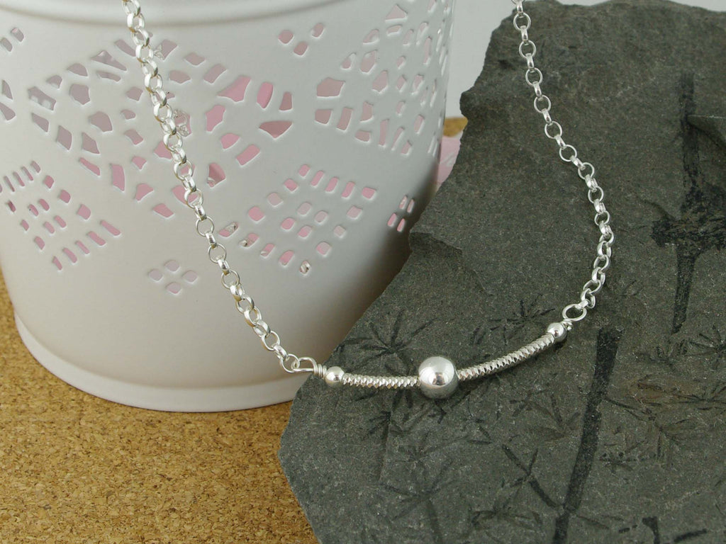 Fidget Necklace - Sterling Silver - Ball