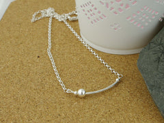 Fidget Necklace - Sterling Silver - Silver Ball