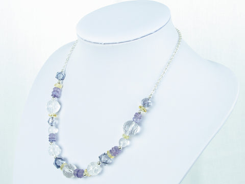 Blue Heaven Necklace - Unique Quartz & Citrine