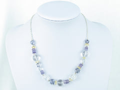 Blue Heaven necklace - quartz & citrine with sterling silver