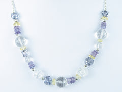 Blue Heaven necklace - quartz, citrine, sterling silver