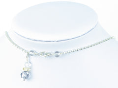 Blue Heaven necklace - quartz & citrine, sterling silver