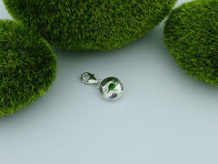 Russian Diopside Solid Sterling Precious Pebble Charm