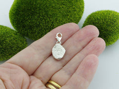 Citrine Solid Sterling Silver Precious Pebble Charm reverse
