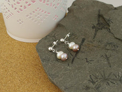 Classic Vintage Earrings - Cultured Pearl on Sterling Silver Earrings from Jewellery by Linda